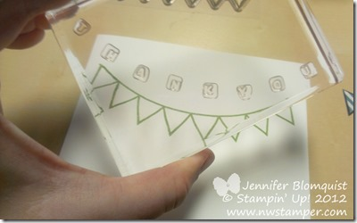 How to line up letters with photopolymer stamps