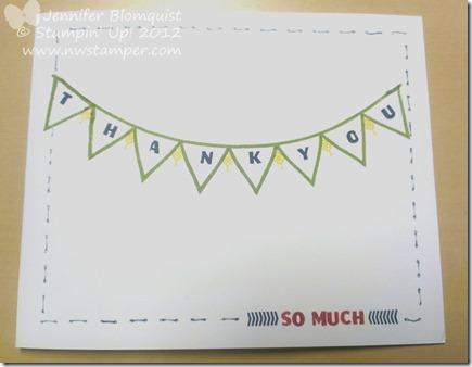 designer typeset photopolymer thank you card