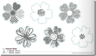 Flower Shop stamp set with matching posy punch