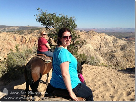 Jennifer Blomquist and Lyssa at Snow Canyon