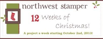 Northwest Stamper 12 Weeks of Christmas 2013 banner
