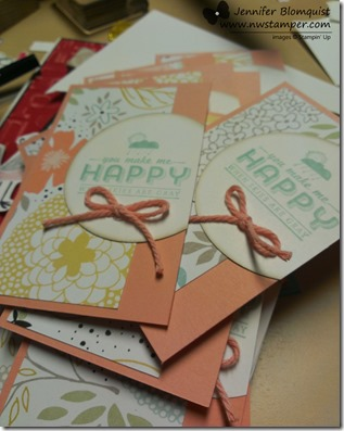 You Make Me Happy sale-a-bration cards