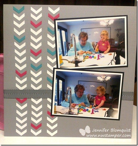 chevron punch scrapbooking page