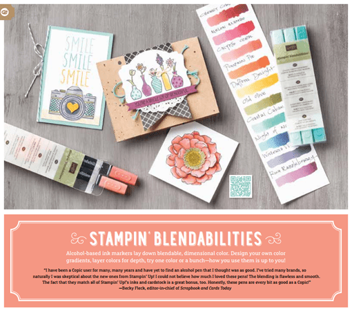 Stampin Up Blendabilities Samples