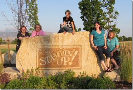 Fun n' Crafty Stampers at the Stampin' Up headquarters