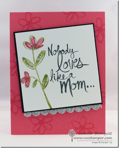 Mother's Love glimmer card
