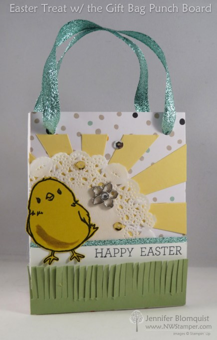 Honeycomb Happiness Easter Gift Bag Punch Board front view