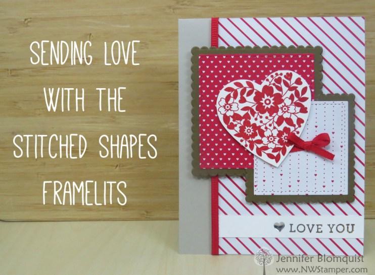 Sending Love layered red and white card - Jennifer Blomquist, NWStamper.com
