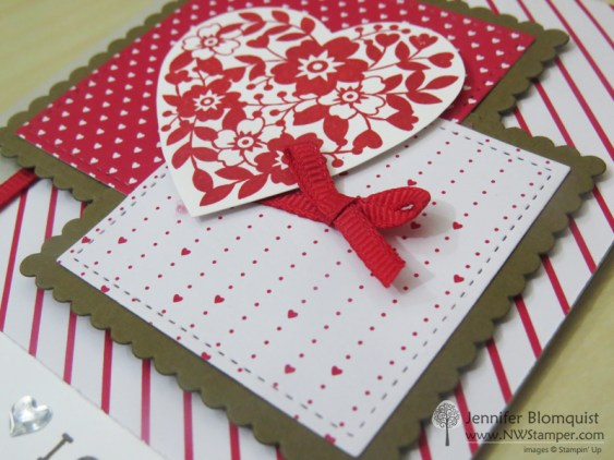Sending Love Valentine's Card with Bloomin' Love heart