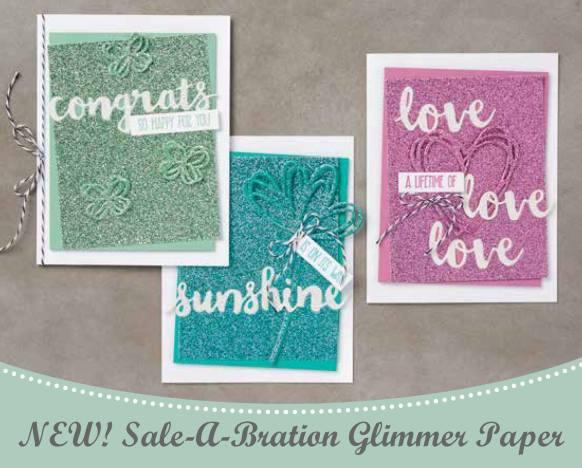 Sale-a-Bration glimmer paper stack on nwstamper.com
