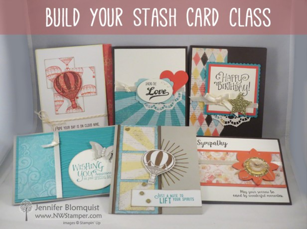 Build your stash -card class by mail to make at home
