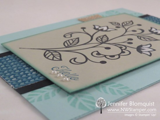 Pearls and Flourishing Phrases card - Jennifer Blomquist, NWStamper.com