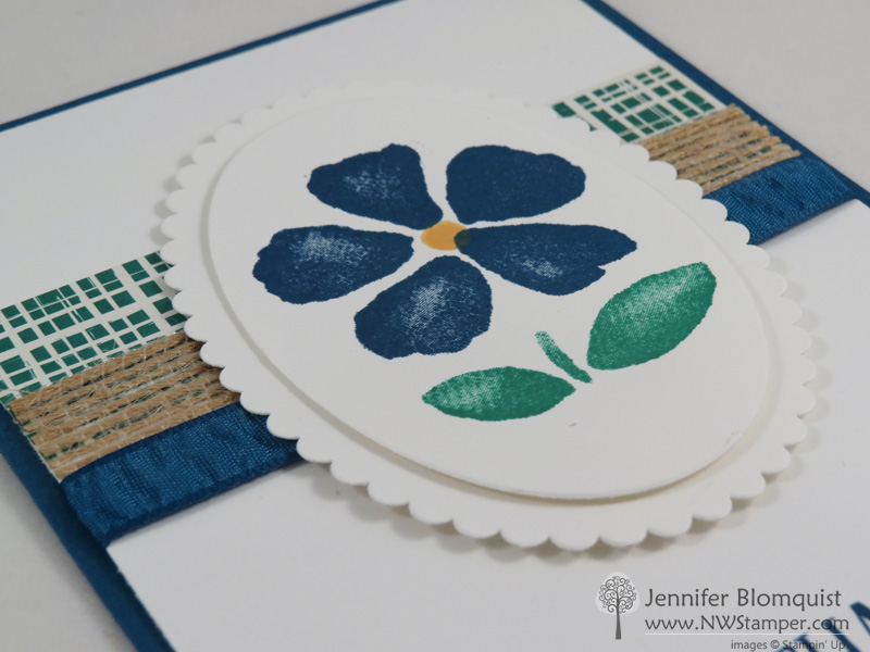 Close up of Layering Ovals with the Fresh Fruit stamp set to get layered scallop ovals | Jennifer Blomquist - NWstamper.com