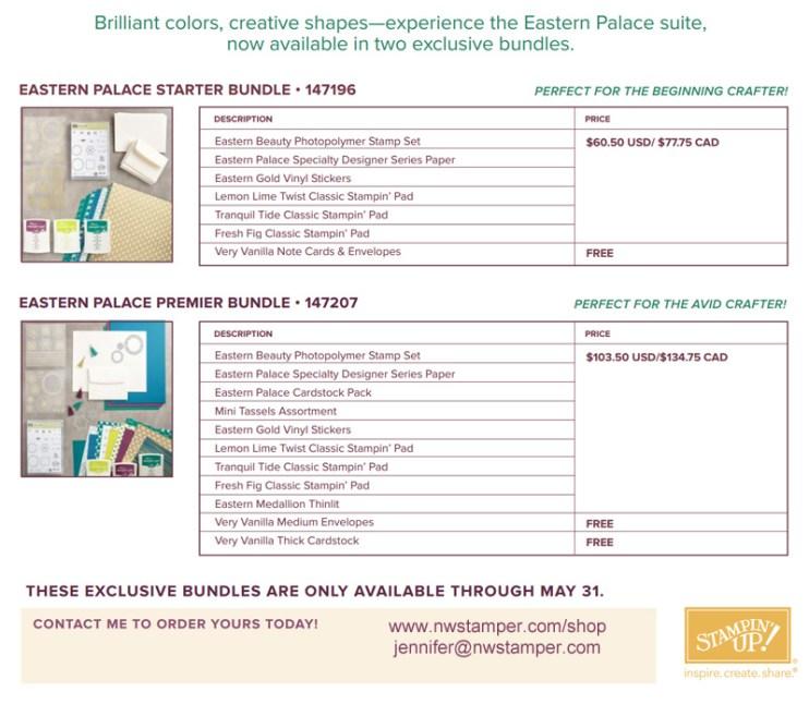 2017 Eastern Palace Bundles details