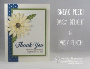 Daisy Delight Thank You Card sneak peek