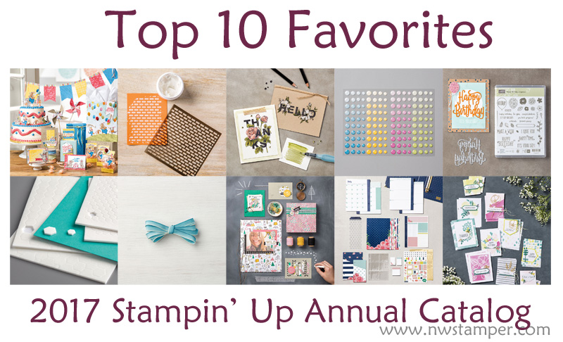 Top 10 favorites from the stampin' up annual catalog