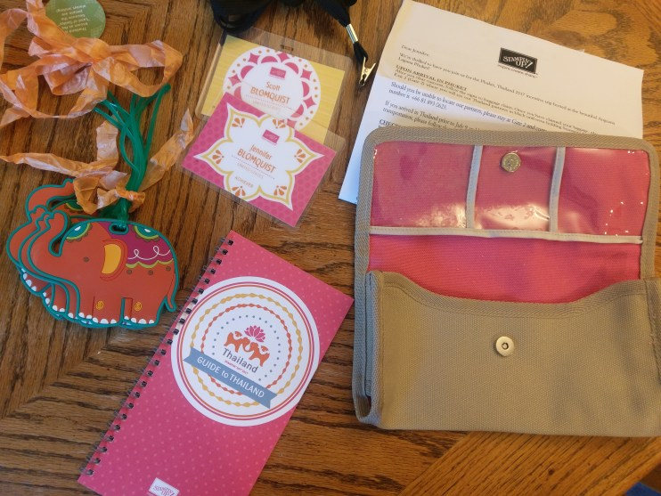 Stampin' Up Thailand Incentive Trip travel documents