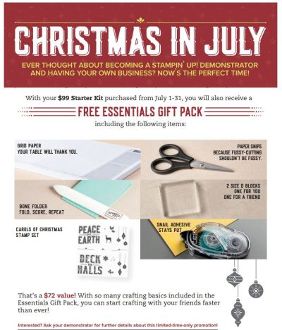 Stampin' Up July Bonus Days promotion