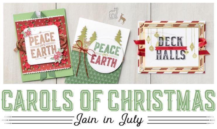 Carols of Christmas free stamp set in july