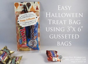 Quick Halloween Treat Bag Using Spooky Night paper and Spooky Cat Stampin' Up Stamp set