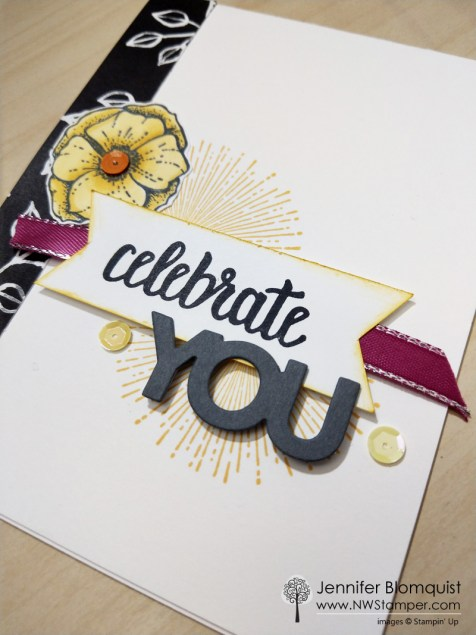 Amazing You Sale-a-bration card idea side view