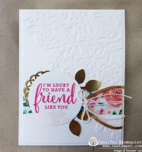 Elegant friend card with Springtime Impressions