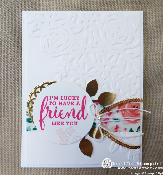 Elegant friend card with Springtime Impressions