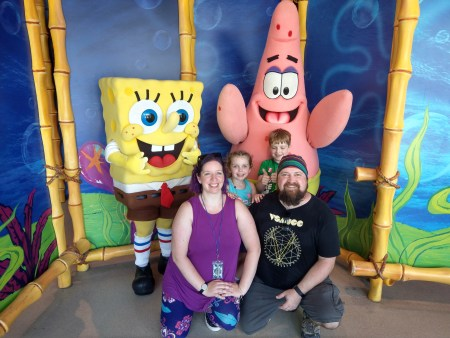 Family with SpongeBob