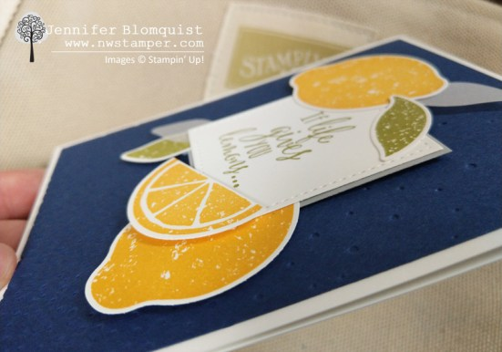 lemon zest layered die cuts when life gives you lemon card