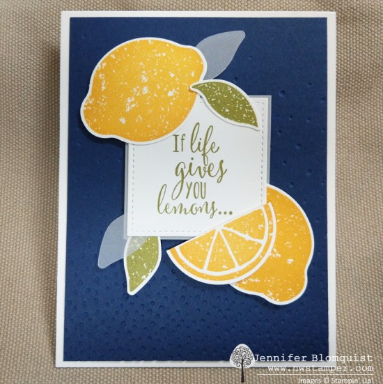 lemon zest - if life gives you lemon night of navy card