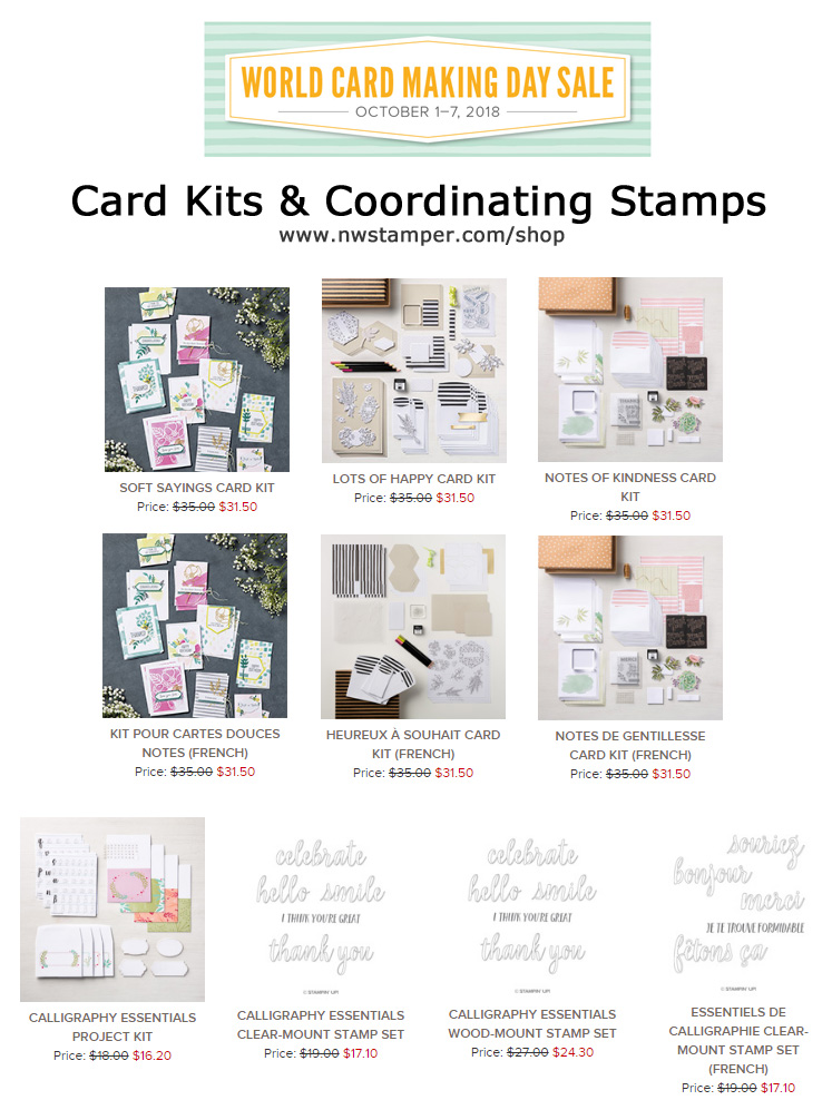 Card Kits on Sale for World Card Making Day