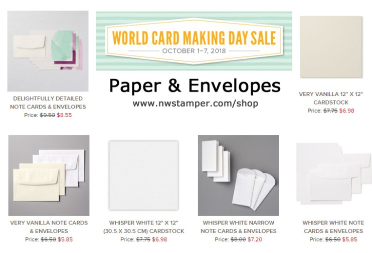 Paper & Envelopes on Sale for World Card Making Day