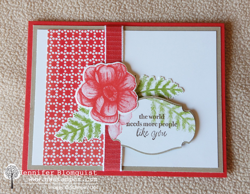 Painted Season bundle card with poppy parade and crumb cake layers