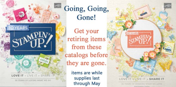 Stampin up 2018-2019 annual catalog cover and 2019 occasions catalog cover - last chance to order from these catalogs before items start selling out