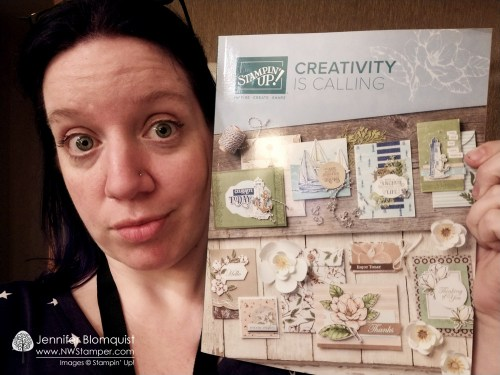 Excited to show the cover of the 2019-2020 Stampin' Up! catalog