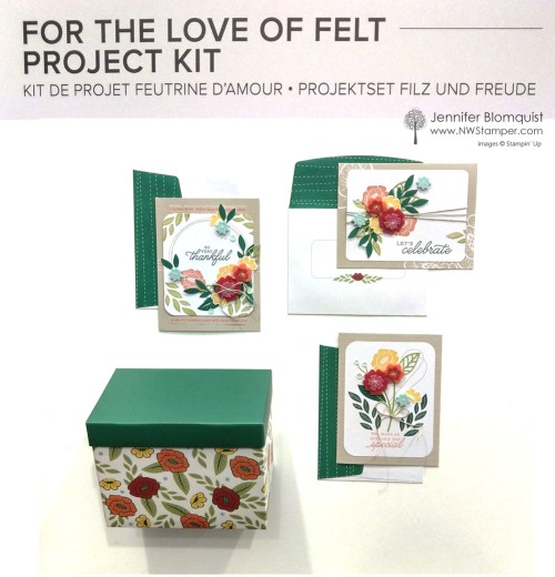 For the love of felt project kit by Stampin' Up!