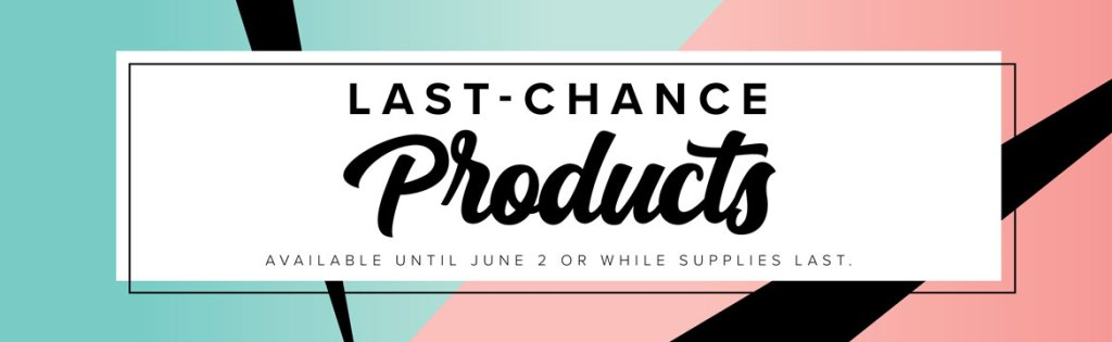 Last Chance Products header for Stampin' Up 2019-2020 catalogs
