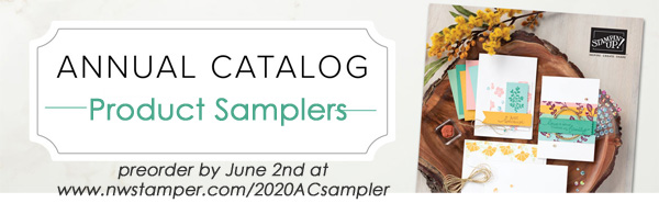 2020 Stampin' Up annual catalog product shares and samplers