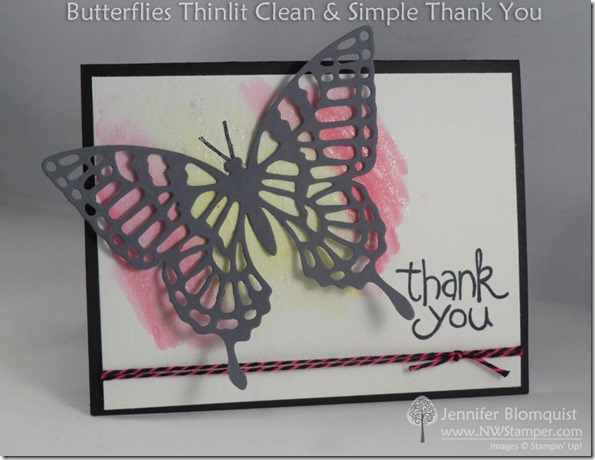 Apple of my Eye Butterfly Thank You Card