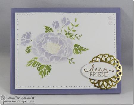 birthday blooms friend card