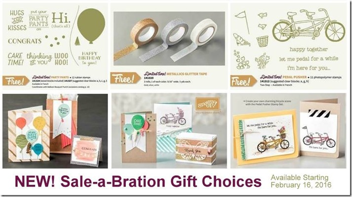 NEW 2016 Sale-a-Bration items