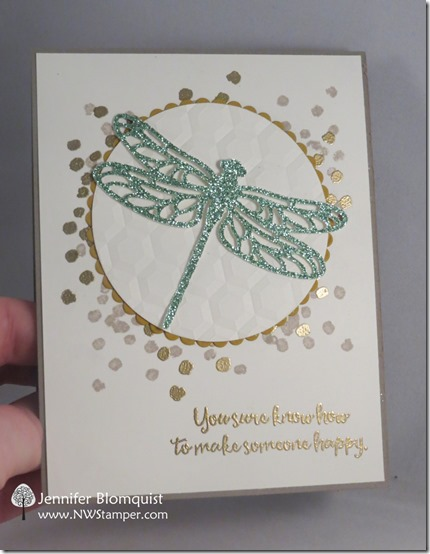 Heat embossing backgrounds and words with Dragonfly Dreams by nwstamper.com