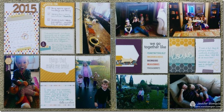 Happiness is Project Life 2 page layout ver 3