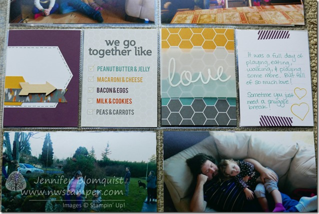 Happiness is project life embellished layout right close up