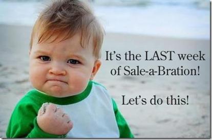 Last week of Sale-a-bration meme