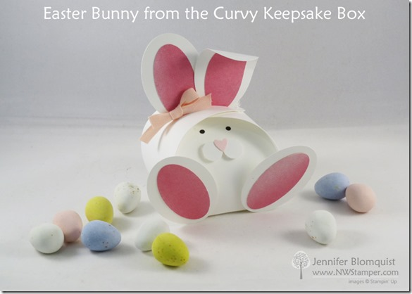 Easter Bunny Curvy Keepsake box with Perfectly Artistic Designer Paper