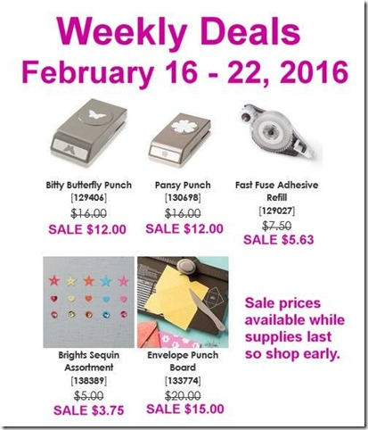 Feb 16 2016 Weekly Deals