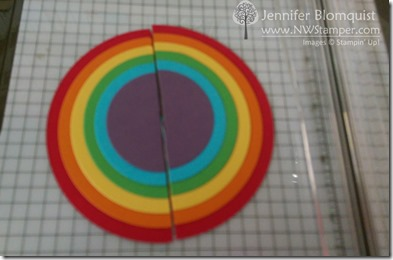 rainbows with circle thinlits
