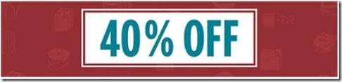 40% off banner