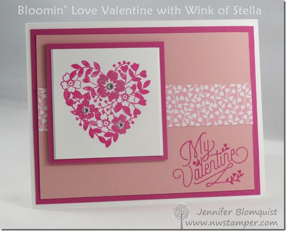 Bloomin Love Valentine's Card with Wink of Stella